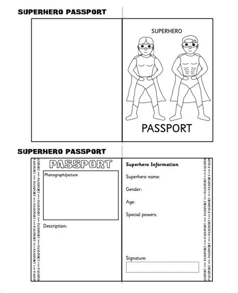 24 Passport Templates Free Pdf Word Psd Designs Editable Passport Template