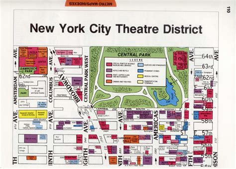 district map of nyc theatre district in new york