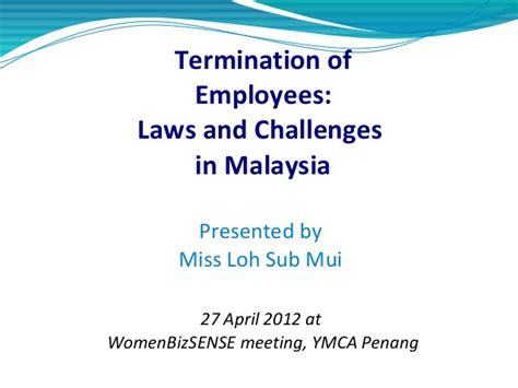 Malaysia Labour Warning Letter Employee Termination Laws In Malaysia
