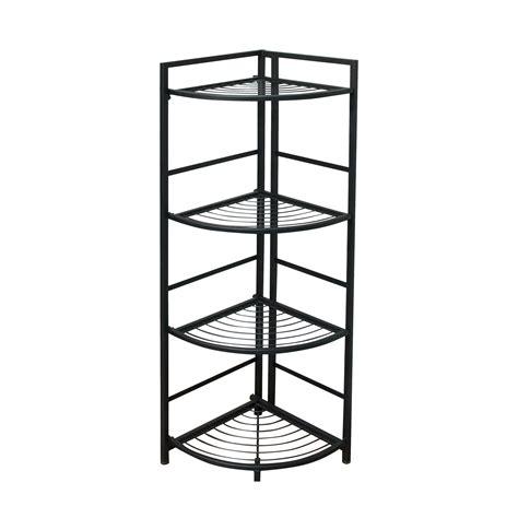 cheap corner shelves flipshelf folding metal shelf no assembly bookcase style