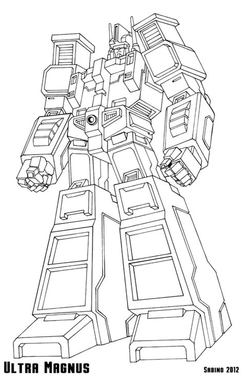 transformers g1 coloring page ultra magnus free colouring pages
