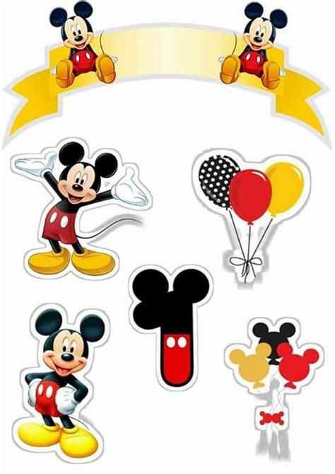 Mickey Top Mininos topo de bolo de papel mickey fazendo a nossa festa