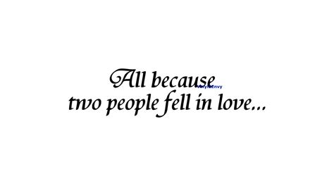 All Because Two People Fell In Love Wall Sticker all because two people fell in love wall decal vinyl wall