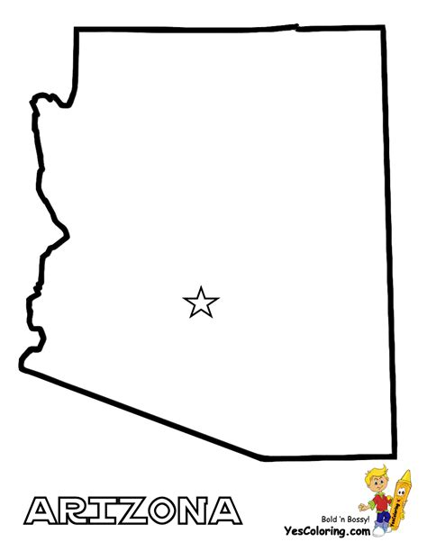Arizona Coloring Page free map of each state alabama maryland state maps
