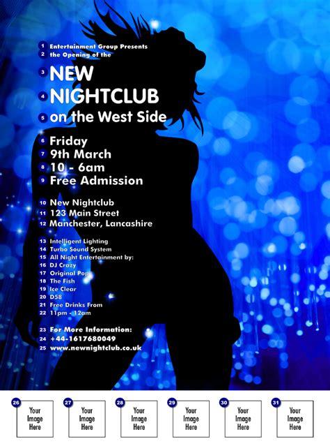 nightclub flyer design uk nightclub blue flyer ticket printing