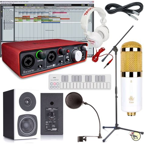 special edition home recording studio bundle mic monitors