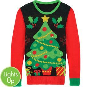 light up tree sweater light up tree sweater city