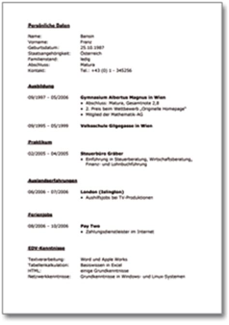 Bewerbung Ferienjob Angeben Lebenslauf Ferienjob Reimbursement Format