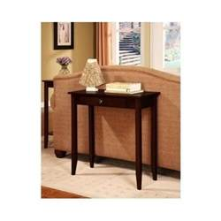 Small Console Table With Drawer Entry Foyer Sofa Home Wood Small Console Table Furniture Brown With Drawer Ebay