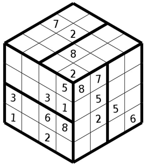 printable sudoku cube 3d simple