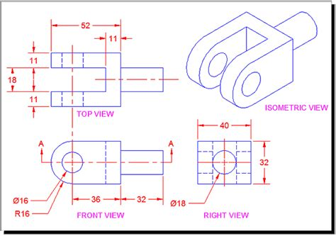 autocad 2007 tutorial first level 3d modeling orthographic projection tutorial for autocad with video