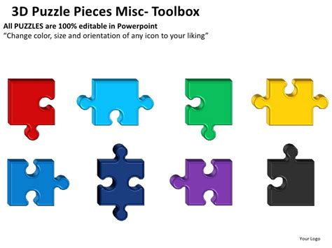 puzzle pieces template for powerpoint 3d puzzle pieces misc powerpoint presentation templates