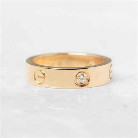 cartier three yellow gold ring at 1stdibs