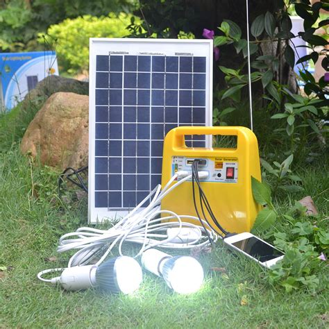 backyard solar panels factory outlet 12v 7ah outdoor portable solar panel system 10w small solar lighting