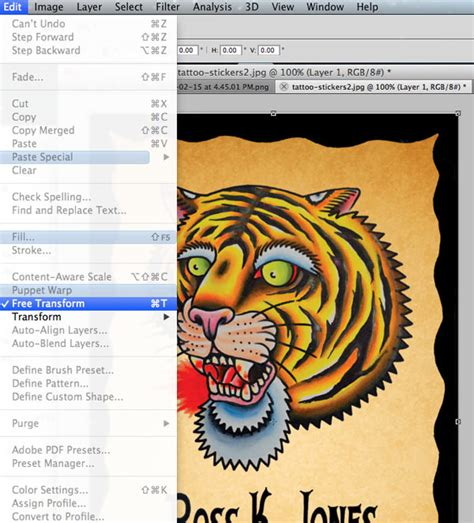 tutorial photoshop tattoo a photoshop tutorial on how to make custom stickers for