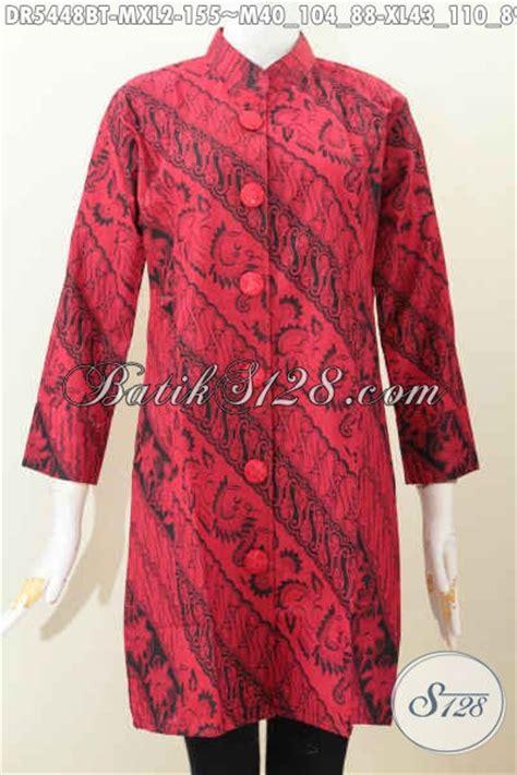 Dress Charlote Hitam Bahan Twistcone Kombi Katun Batik Asli Sleti jual dress bati monokrom produk baju batik kerja warna merah hiatm desain kerah shanghai bahan