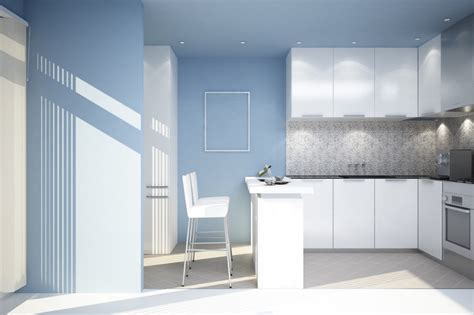 blue walls in kitchen feel a brand new kitchen with these popular paint colors