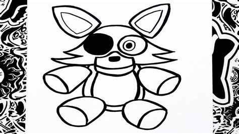 imagenes de foxy kawaii para dibujar como dibujar a foxy peluche how to draw foxy youtube