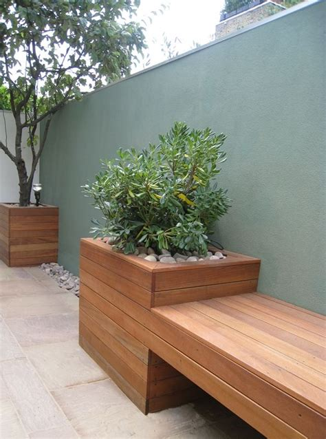 garden bench with planters outdoor cedar planter bench woodworking projects plans