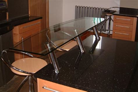 breakfast bar work top glass splashback specialists kitchen work surfaces