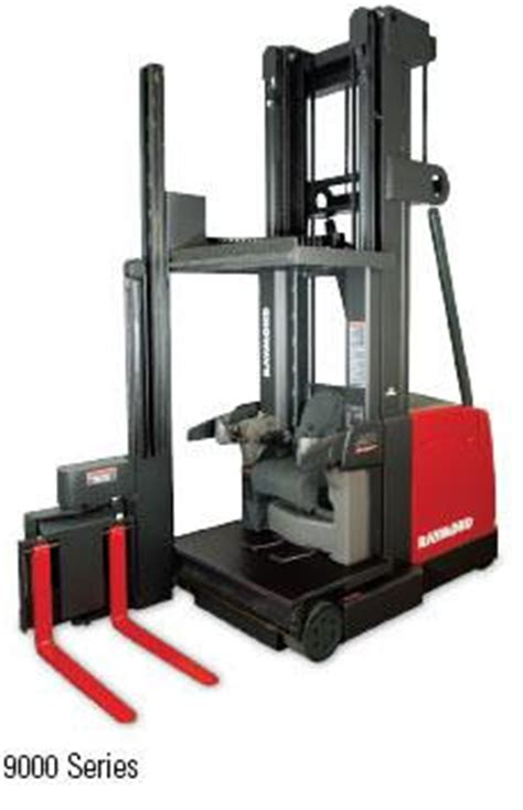 swing lift forklift raymond swing reach lift truck used materials handling