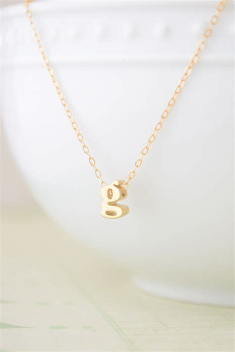Letter Necklace Olive Yew Lowercase Letter Necklace From Carolina Shoptiques