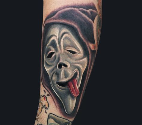 horror movie tattoo designs classic scary mask design for sleeve by marc