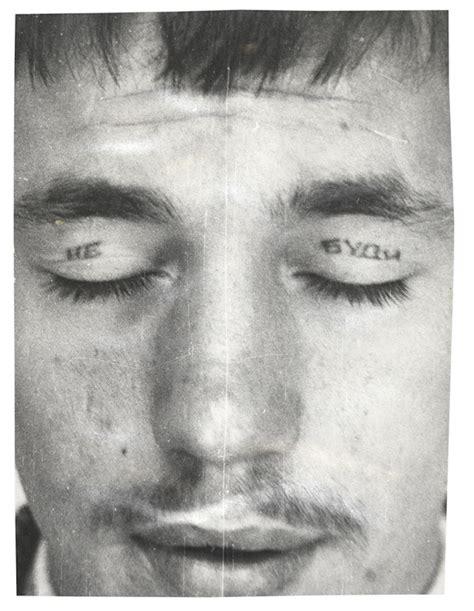 prison tattoo cross under eye russian criminal tattoo police files decoding the mark of