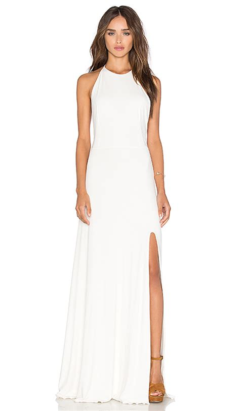 Maxi Niki de lacy maxi dress in white revolve