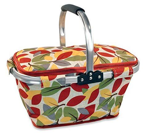 To Market Recap Picnic Basket by Dii Insulated Market Basket Or Picnic Tote For Farmers