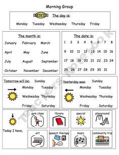 Classroom Calendar Feature Calendar Journal Page Feature