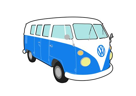 volkswagen bus art cer clipart vw cervan pencil and in color cer