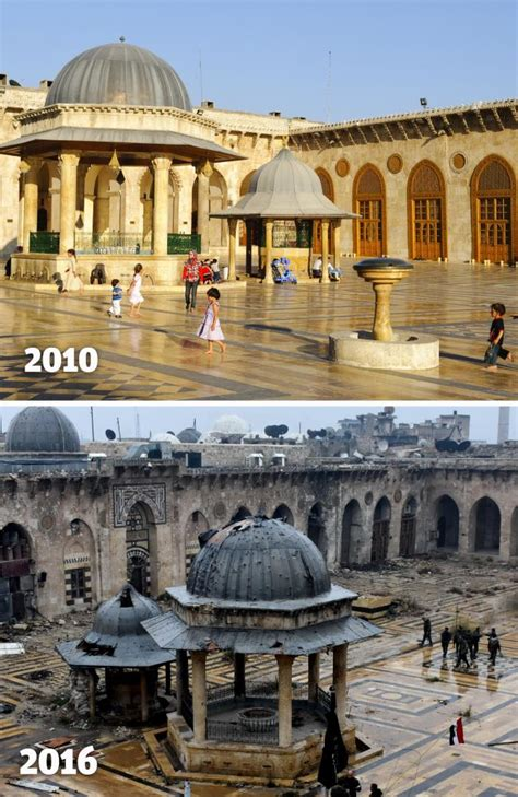 syria before and after aleppo syria before and after photos show the