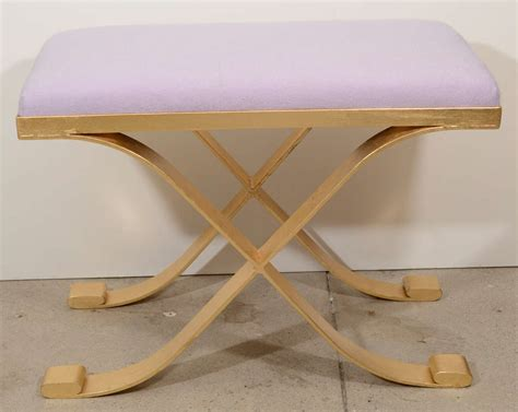 pairs of exquisite cashmere and gilt iron stools at 1stdibs