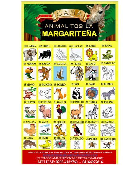 imagenes lotto activo grupo animalitos la margarite 209 a resultados 01 diciembre 2016