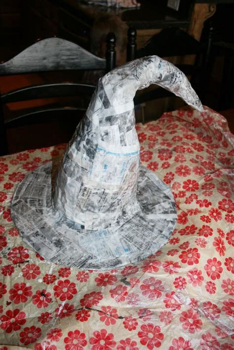 How To Make Paper Mache Hats - to witch hats and paper on