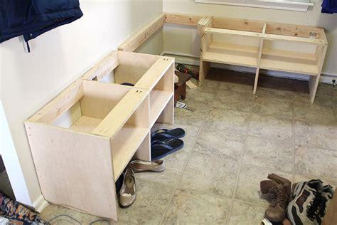 build  entryway bench  hooks  storage