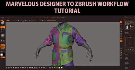 zbrush workflow marvelous designer 5 to zbrush workflow tutorial zbrushtuts