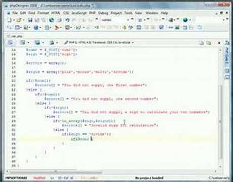 php tutorial youtube new boston php tutorial calculator v2 youtube