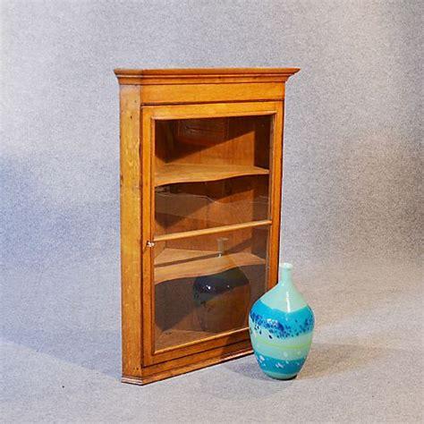 Oak Wall Display Cabinet by Corner Cupboard Glazed Wall Display Cabinet Golden Oak