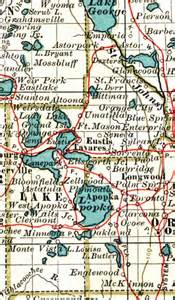 map of lake county florida 1897
