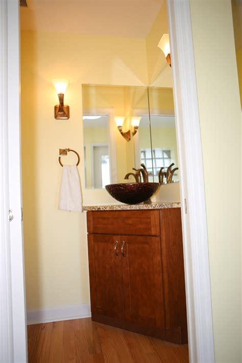 powder room corner corner bathroom vanities powder room with chocolate
