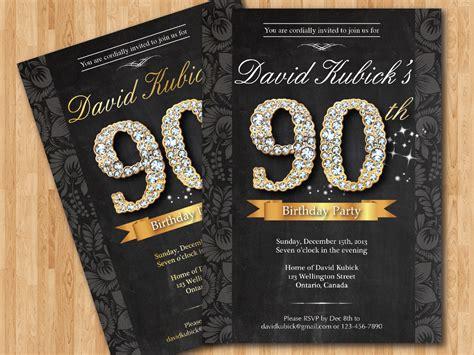 free 90th birthday invitation templates free printable 90th birthday invitations bagvania free