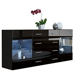 sideboard schwarz matt sideboard chest of drawers bari v2 in black matt black