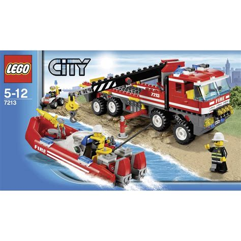 lego fire boat uk lego 174 city 7213 fire engine with emergency fire boat from