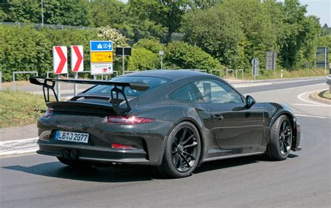 porsche gt3 rs porsche 911 gt3 rs facelift for 2018 more power more