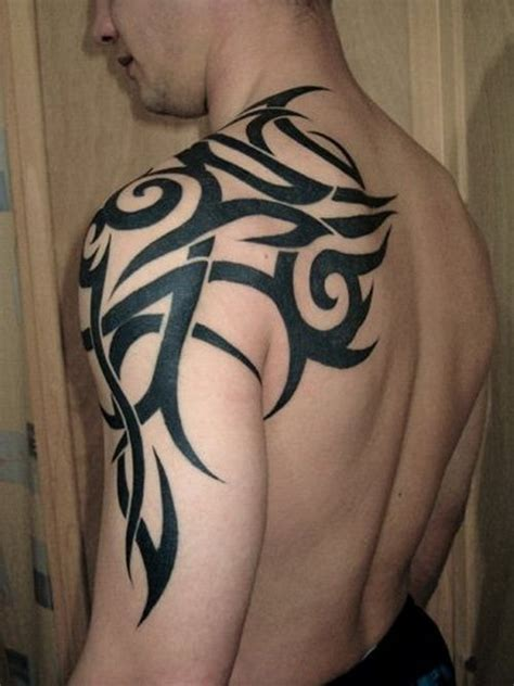 tribal tattoos chest arm shoulder tribal arm shoulder my style