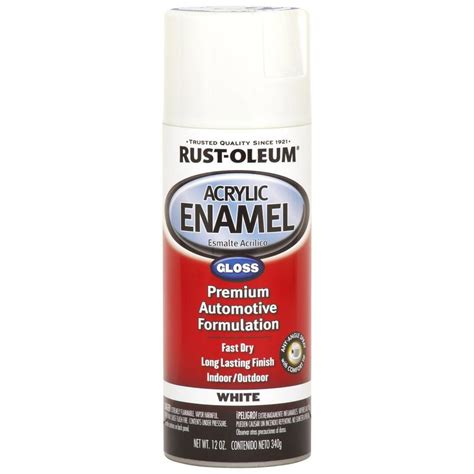 shop rust oleum automotive white enamel spray paint actual net contents 12 oz at lowes