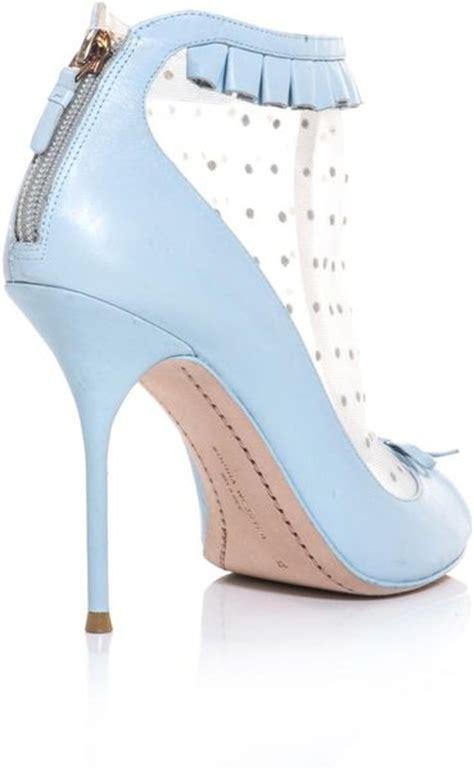 Jimmy Choo Felice Jb2503 webster felice polka dot open toe shoe boots in blue lyst