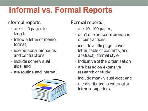 sle of informal report informal report sles 28 images informal business